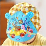หมวกแก็ปเด็ก สีฟ้า Sky - เหลืองน้ำตาล ลายกระต่ายขับรถ