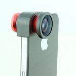 เลนส์เสริม IPHONE5 ปรับ 3ระดับ fisheye wide macro